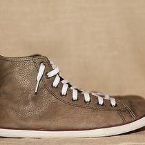 Converse Slim Leather Shoes Sneakers Green Hi Tops U.s. Men's Size 10 Pre-Owned Photo
