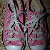 Converse Sneakers Chucks Low Tops 10.5 Girls All Stars Pink Photo