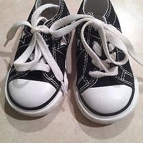 Converse Toddler Shoes 5 Black Low Top Photo