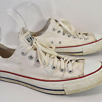 Converse White Canvas Low Top  Shoes Mens 11.5 M Photo
