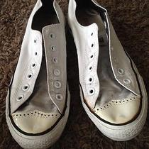 Converse White Canvas Wingtip Low Top Womens 8 Photo
