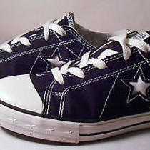 Converse Women's One Star Black Size 5 1/2 Low Top Sneakers Photo
