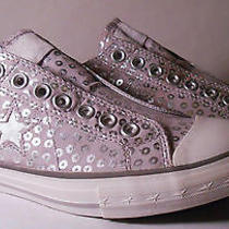 Converse Women's One Star Gray & Silver Spots/dots Slip-on Low Tops Photo