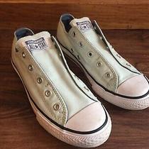 Converse Women's Size 5 or Juniors Size 4 Glitter Slip on Sneakers Light Blue Photo