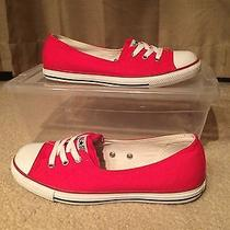Converse Womens Low Top in Red Size 8 Photo
