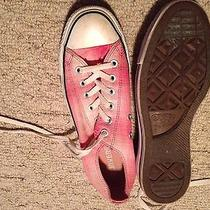 Converse Womens Low Tops  Size 9 Pink Print Photo