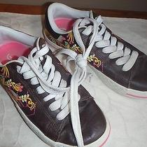 Converse  Womens Size 8 Leather Brown Low Top Sneakers Tennis Shoes Photo