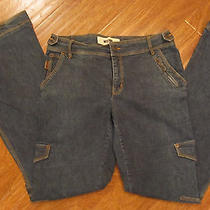 Cool 90's Vintage Moschino Italy Tab and Buttoned Wide Grunge Denim Jeans L 12  Photo