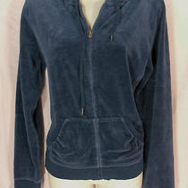 Cool Express Blue Velour Hoodie Size Large  Photo