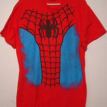 Cool Spiderman T Shirt Marvel Comics Halloween Costume Size L Peter Parker Photo