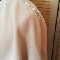 Cool Zara Long Sleeve Top Sloppy Joe Sweat Blush Diamante Trim Bnwot Size L Photo