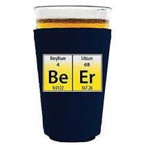 Coolie Junction Beer Elements Funny Pint Glass Coolie Navy Photo