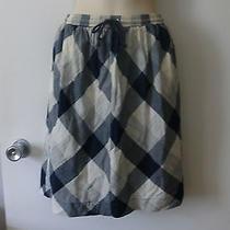 Cooperative Urban Outfitters Blue & Cream Check Cotton Mini Skirt S Photo