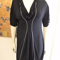 Cop Copine Black Art to Wear Christie Tunic Bubble Style With Front Pleats S 3 L Photo