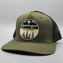 Copenhagen Tobacco Vintage Trucker Hat Embroidered Patch  Olive and Black Cap Photo