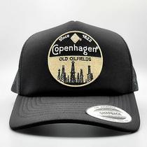 Copenhagen Trucker Hat Embroidered Vintage Patch on a Mesh Baseball Cap Photo
