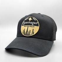 Copenhagen Vintage Trucker Hat Embroidered Retro Patch  Black Baseball Cap Photo