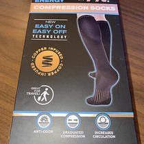 Copper Fit Unisex 2.0 Easy-on and Easy-Off Knee High Compression Socks S/m Photo