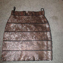 Copper Sequin Bcbg Mini-Skirt Size S -- Two Sequins Missing Photo