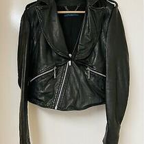 Core Spirit Black 3 in 1 Soft Lamb Leather Jacket Vest Coat  Uk 10 12 Rrp 550 Photo