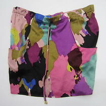 Corey Lynn Calter Anthropologie Multi Color Splatter Print Tie Waist Skirt Sz 6 Photo