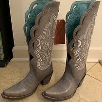 Corral Ladies Silver Embroidery & Swarovski Crystal Wedding Boots C3202 Size 5 M Photo