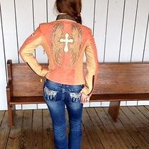 Corral Salmon Lamb Leather Jacket Photo