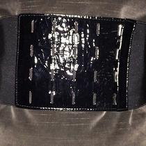 Corset Belt in Patent Leather & Stresh Elastic Sz S. Club Monaco Photo