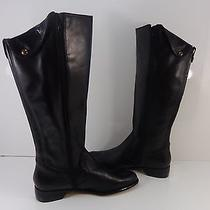 Corso Como Side Zip Knee High Boots Women's Size Black Leather Size 8.5 M   Photo
