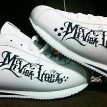 Cortez Style White/blue Men's My Crazy Life Shoes Photo