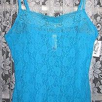 Cosabella Amore Floral Stretch Lace Camisole River Blue S Nwt Photo