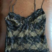 Cosabella Black Stretch Lace Camisole Crop Top Size Medium Euc Photo