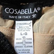 Cosabella Black Stretch Lace Lined Dress Night Gown Euc L Italy Photo