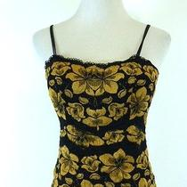 Cosabella Italy Black Gold Camisole Bustier Strapless Corset Top M Photo