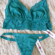 Cosabella Never Say Never Soft Bra & G String Thong Panty Setsgreennwt Photo