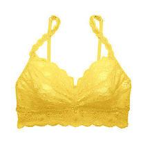 Cosabella Never Say Never Sweetie Bralette Bra Sunshine Yellow Sz Medium New 52 Photo