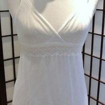 Cosabella Nightgown Slip Chemise White Sz Med Lace Sheer Nightie Nwt New Photo