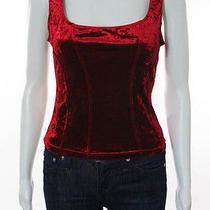 Cosabella Red Velvet Iridescent Corset Tank Top Sz M Photo