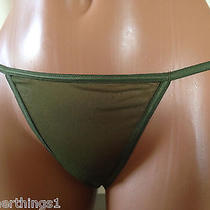 Cosabella Soire G-String Thong One Size Olive Green Nwt Photo