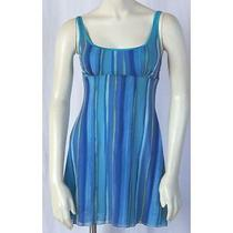 Cosabella Sz L - G Blue Green Nylon Spaghetti Strap Intimate Nightie Teddy Hs Photo