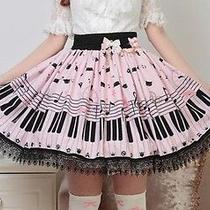 Cosplay Sweet Love Lolita Vintage Elegant Fantasy Piano Kawaii Cute Skirt (Pink) Photo
