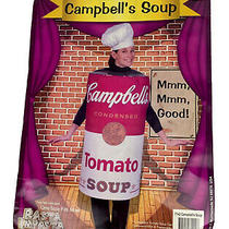 Costume Campbell's Tomato Soup Can Halloween Ladies One Size Rasta Imposta 2004 Photo