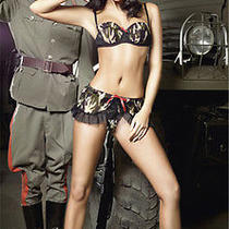 Costume Lingerie Sexy Military Army bra&mini Skirt Set Bedroom Fantasy Sw6111 Photo