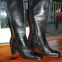 Costume National Baby Soft Black Boots W Punched Leather Detail Us 10 Euc Photo