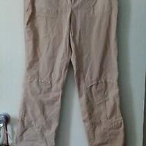 Costume National Beige Smocked Cotton Crop Pants Size 44 M/l Photo