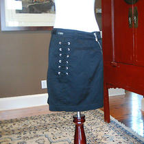Costume National Black Gonna Skirt Sz 40 Nwt Photo