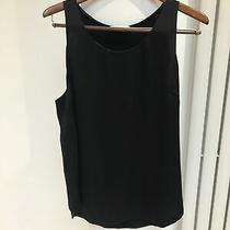 Costume National Black Silk Top Uk 12 Size 44 Photo
