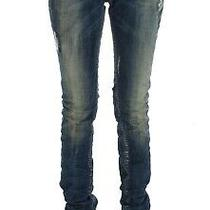 Costume National Blue Cotton Blend Straight Fit Jeans W34 Photo