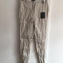 Costume National Bnwt Grey Slim Skinny Trousers Designer Cotton Size 44 12 10 Photo