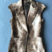 Costume National Brown Wash Stylish Elegant Vest Top Size 8 Photo